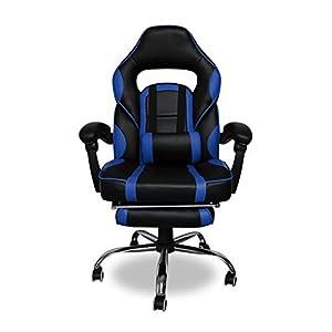 41HtbHMHXVL. SS300  - HG-Office-Silla-giratoria-Silla-para-juegos-Premium-Comfort-Apoyabrazos-acolchados-Silla-de-carreras-Capacidad-de-carga-200-kg-Altura-ajustable-negro-azul