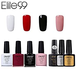 elite99 vernis semi permanent vernis ongles gel uv led soakoff 7pcs kit manicure pour ongle. Black Bedroom Furniture Sets. Home Design Ideas