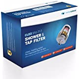 "Cleo SFU 717 Shower & Tap Filter - Fits 1/2"" Wall & Handheld Showers and 24mm Aerator Taps - Reduces Hairfall & Protects Skin"