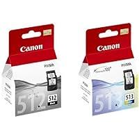 Canon PG512(PG-512) negro y CL513(CL-513) cartucho de tinta a color para Pixma MX420impresoras