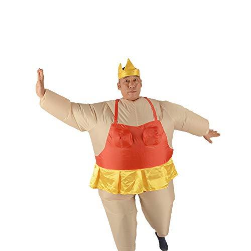 sakj-da KostümstützenWeihnachtstanz Kostüm Ballett Sumo Leistung Aufblasbare Kostüm Cartoon Puppe Tanz Adult, Gules, 150-190 cm