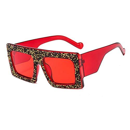 SYQA Neue übergroße kristall Sonnenbrille Frauen Diamant Rahmen Vintage Ozean Shades Sonnenbrille für weibliche,C5
