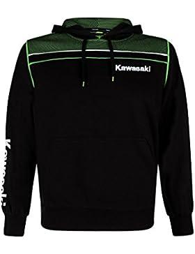 Kawasaki SPORTS HOODY NEU Kapuzen Pullover schwarz grün