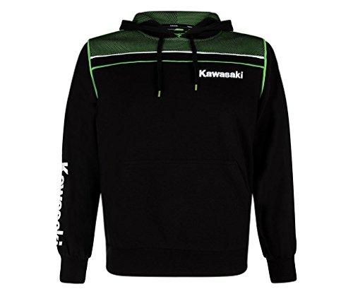 Kawasaki SPORTS HOODY NEU Kapuzen Pullover schwarz grün (L)