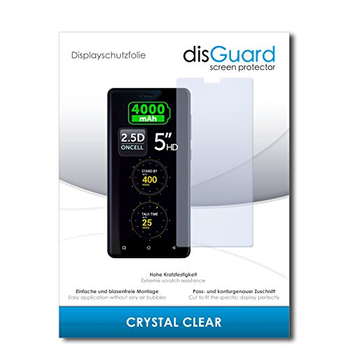 disGuard® Bildschirmschutzfolie [Crystal Clear] kompatibel mit Allview P8 Energy Mini [2 Stück] Kristallklar, Transparent, Unsichtbar, Extrem Kratzfest, Anti-Fingerabdruck - Panzerglas Folie, Schutzfolie