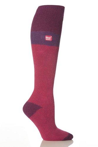 1 Paar Damen Original thermisch Wärmehalter Ski Socken 4-8 uk, 37-42 EUR, 5-9 usa Fuchsia/Lila / Himbeere
