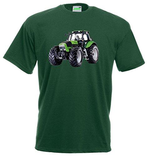 Kinder T-Shirt | Deutz Agrotron | Schlepper | Bulldog | Traktor | Premiumshirt von Bimaxx® Flaschengrün