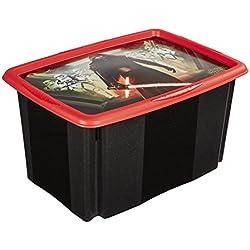 keeeper Star Wars Aufbewahrungsbox mit Dreh-/Stapelsystem, 55,5 x 40 x 30 cm, 45 l, Anna, Schwarz
