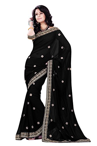 Indische Kleider Damen Sari mit Ungesteckt ungesehen Oberteil/bluse Mirchi Fashion Party indians saree kleidung (Sari Indische Weiße)