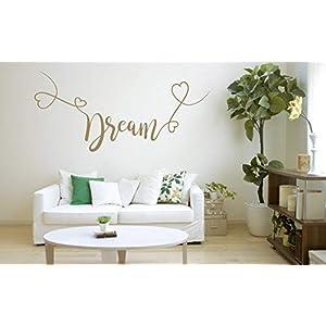 Dream, Vinyl, Wandkunst Aufkleber, Wandbild, Aufkleber. Haus, Wanddekoration, Küche, Esszimmer, Schlafzimmer.