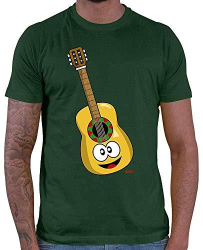 HARIZ Herren T-Shirt Gitarre Lachend Instrument Kind Witizg Inkl. Geschenk Karte Dunkel Grün 3XL