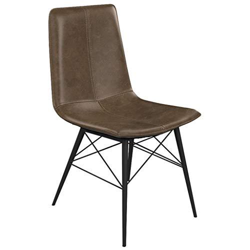 Stuhl Barhocker Esszimmerstuhl Aus PU Leder, Frühstücksstuhl Mit Rückenlehne Retro Stuhl Empfangsstuhl Metallrahmen LOFT Moderne Stilmöbel, für Küche, Restaurant, Café, Bar (Farbe Optional) mit Rücken