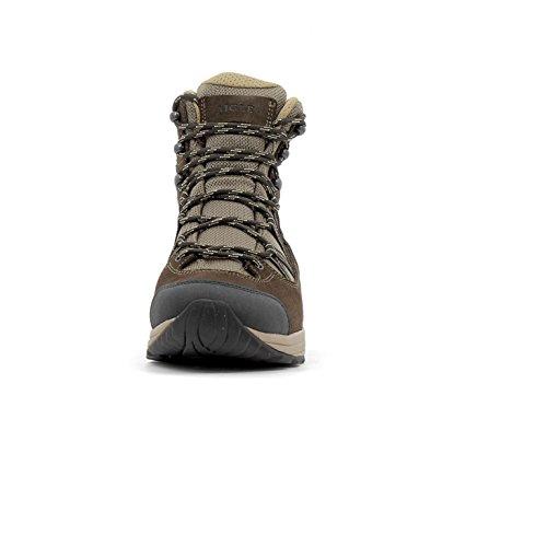 Aigle Mooven Mid Gtx, Chaussures de Randonnée Basses Homme Marron (Dark Brown/Beige)