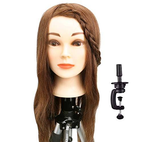 Tools & Accessories Wig Stands Blonde Tripod Training Doll Head Mannequin Head Manikin Canvas Block Head Stand Tripod Aluminium Alloy Round Leg Strong Stable
