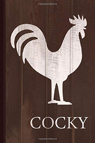 Cocky Rooster Funny Journal Notebook: Blank Lined Ruled For Writing 6x9 120 Pages por Flippin Sweet Books