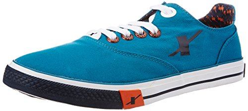 Sparx Men's Sea Green and Navy Blue Sneakers - 8...