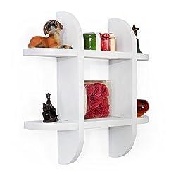 Forzza Ron Wall Shelf (Matt Finish, White)