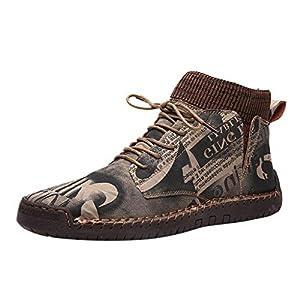 Masoness 💎💎 Retro Combat Boots Herren Freizeitschuhe Breathable Socks Locomotive Tooling Shoe,Influx Herren Wildleder lässig atmungsaktiv Socken Mund Lokomotive Werkzeug Schuhe