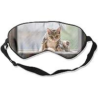 Eye Mask Eyeshade Cat Sitting Sleep Mask Blindfold Eyepatch Adjustable Head Strap E5 preisvergleich bei billige-tabletten.eu