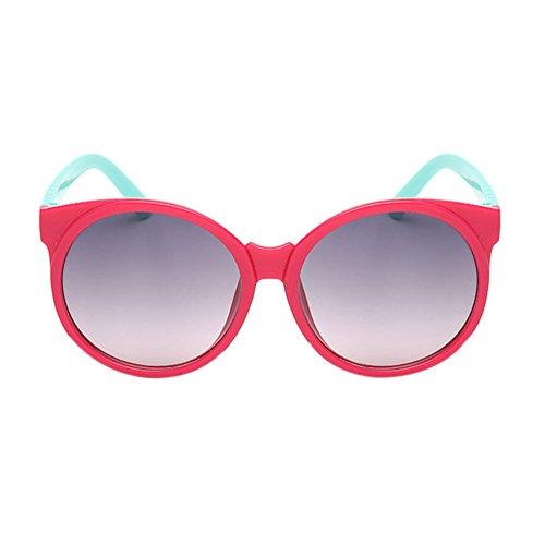 Haodasi Lunettes de soleil anti-UV des lunettes de soleil des enfants de mode Rose/blue