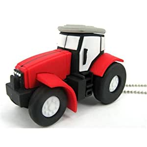 8GB Novelty Tractor USB Memory Stick 2.0 Flash Drive. PRESENTED IN A FREE METAL GIFT BOX