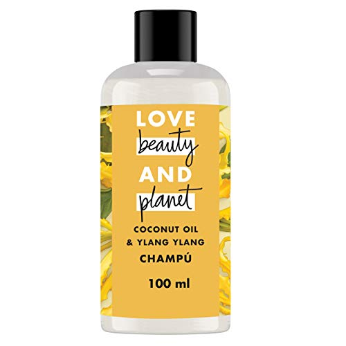 Love Beauty and Planet Champú para Cabello dañado, Aceite de Coco e Ylang Ylang Vegano - Pack de 6 x 100 ml (Total: 600 ml)