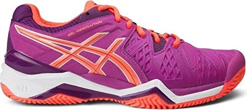 Asics Damen Tennisschuhe Outdoor Gel Resolution 6 Clay Pink (315) 37EU