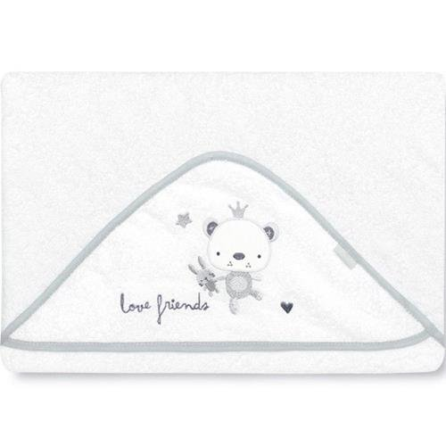 pirulos 00712320–maxicapa, Design Love Friends, 100x 100cm, weiß/grau