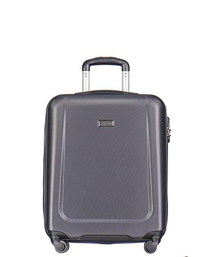 Koffer Reisekoffer Hartschalen Trolly Puccini® Ibiza • 4 Größen 7 Farben (Grau (8), Kabinenkoffer) -