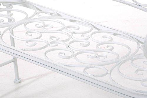 CLP Metall Gartenbank TUAN, 2-er Sitz-Bank Garten, Eisen lackiert, Design nostalgisch antik, 105 x 50 cm Antik Weiß - 7