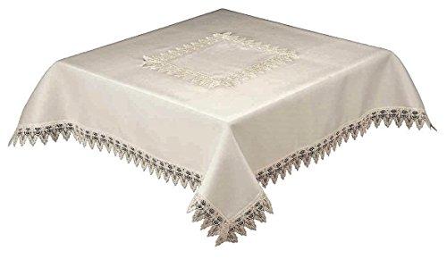 36cm cuadrado mantel blanco calidad encaje frontera