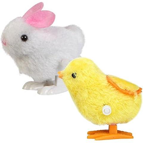 Fortan Nuovo Infant giocattoli del bambino Hopping Wind Up Pulcino di Pasqua e Bunny