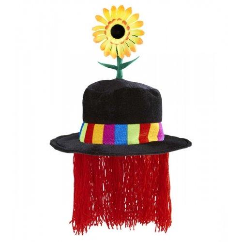 Widmann wdm9510F-Zylinder Clown aus Samt mit Sonnenblume und Haar, Mehrfarbig, One Size