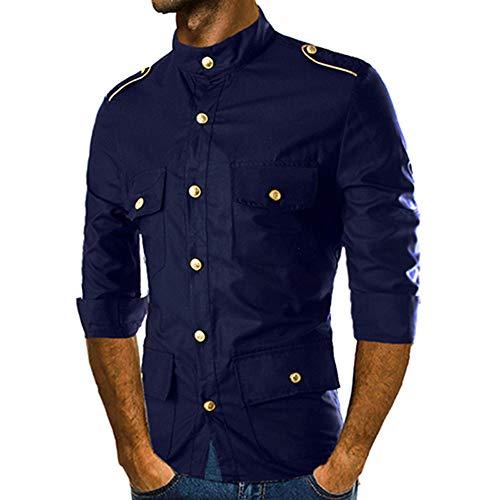 TWBB Sweatshirts Herren,Herbst Winter Slim Fit Shirt Streetwear Oberteile Turn-down Collar Blusen Tops