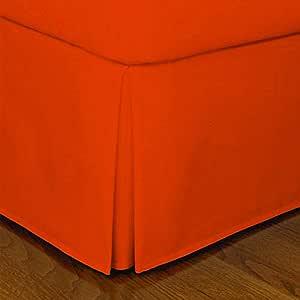 "Orange ! 800TC Bed Skirt 100/% Cotton Solid Drop Length /"" 1-Piece/"" Choose Sizes"