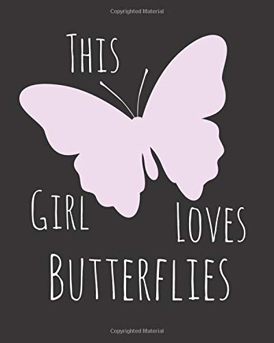 This Girl Loves Butterflies: Fun Butterfly Sketchbook for Drawing, Doodling and Using Your Imagination! Butterfly Tee-set