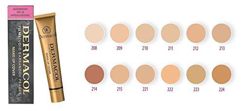 DERMACOL HIGH COVERING MAKE UP COVER FOUNDATION HYPOALLERGENIC, all skin types (211)