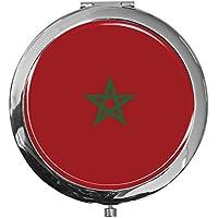 """metALUm - Extragroße Pillendose in runder Form""""Flagge Marokko"""" preisvergleich bei billige-tabletten.eu"""