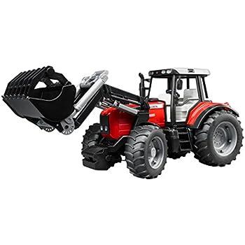 Bruder 03046 - Tracteur MASSEY FERGUSON 7600 - Rouge