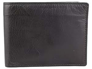 Kanpur Leather Works Black Men's Wallet (KL019)