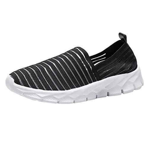CUTUDE Damen Herren Sneaker Laufschuhe Air Sportschuhe Reflektierende Sohlen Turnschuhe Running Fitness Sneaker Outdoors Straßenlaufschuhe - Viele Farben 34EU-41EU (Schwarz, 36 EU)