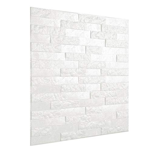Eulan 3D Self-Adhesive Wall Panels Stone Embossed Faux Foam Bricks Wallpaper for TV Walls Sofa Background DIY Wall Decor 23.62