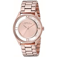Marc Jacobs Tether Women's Rose Gold Dial Stainless Steel Band Watch - MBM3414
