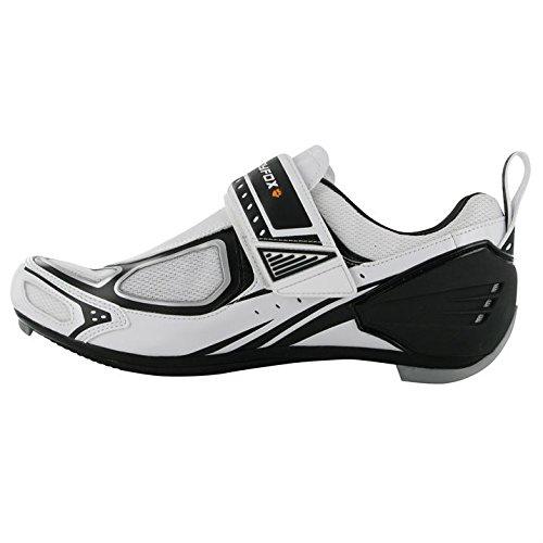 Muddyfox Mens TRI100 Cycling Shoes Breathable Cycle Bike Sport New White/Black UK 10