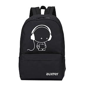 AUXTER Music 15 LTR Black Casual Backpack School Bag Daypack Bag