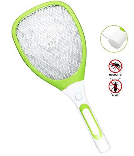 Foto de Samoa Matamoscas eléctrico mosca raqueta mosquitos moscas USB con luces Nuevo