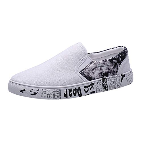 RYTEJFES-Sneaker Faule Schuhe Platte Schuhe Herren Outdoor Leichte Wanderschuhe Kontrastfarbe Segeltuchschuhe Ultra-Light Freizeitschuhe Leichtgewichts Slip-on Shoes -