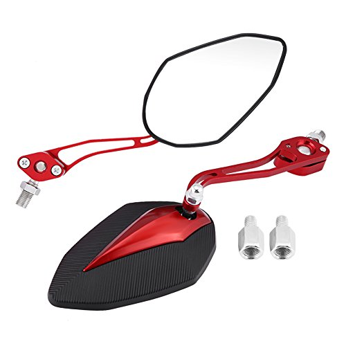 Roller-arm-tote (KIMISS Universal Motorrad Rückspiegel Roller Rückansicht Seitenspiegel 8mm 10mm (Rot))