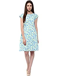 Marie Lucent Women's Polyester Sky Blue Dress (ML4039D01)