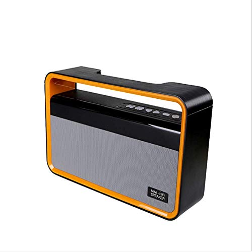 LDQLSQ Drahtloser Bluetooth-Lautsprecher Lautsprecher Lautsprecher Eins für Zwei Drahtloser Mini-Bluetooth-Bluetooth-Lautsprecher Portable Square Dance Audio,Orange (Ma 12 Audio Subwoofer)